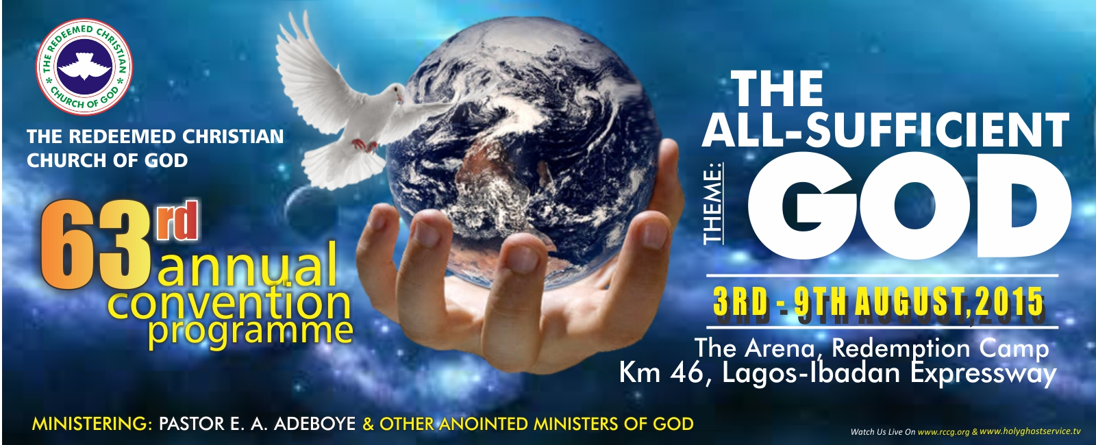RCCG 63rd Annual Convention programme 2015 banner