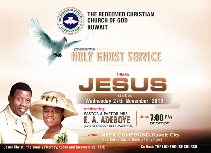 RCCG Kuwait Holy Ghost Congress 2013
