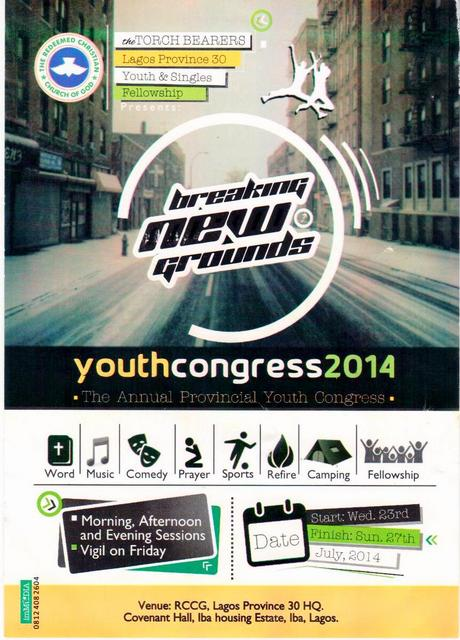 RCCG Lagos Province 30 Youth Congress 2014
