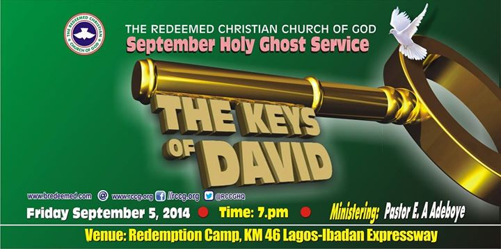 RCCG September 2014 Holy Ghost Service