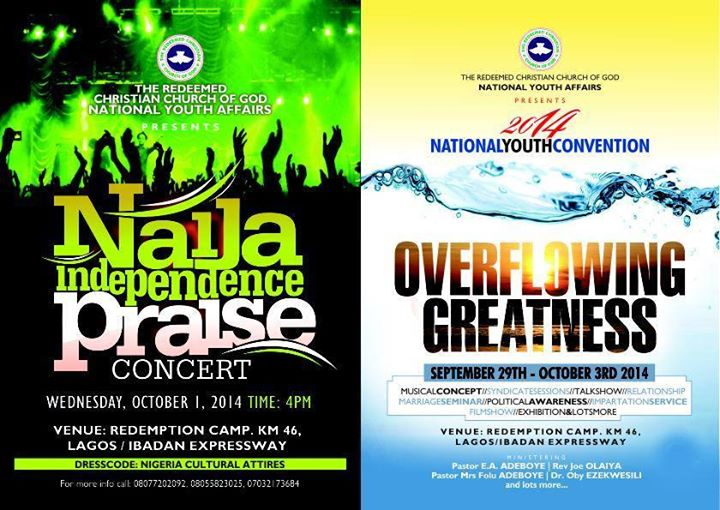 RCCG 2014 National Youth Convention. Theme Overflowing Greatness