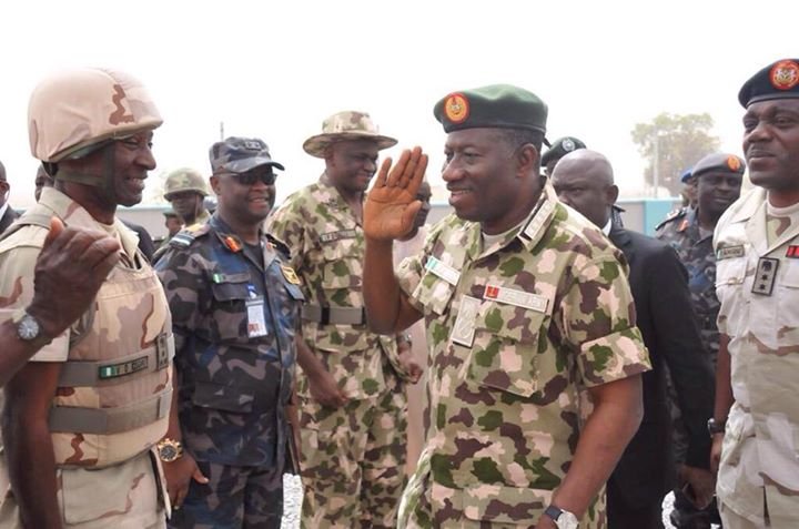 Pres. Goodluck Jonathan visits troops in Baga, Mubi  (6)