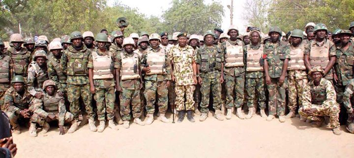 Pres. Goodluck Jonathan visits troops in Baga, Mubi  (8)