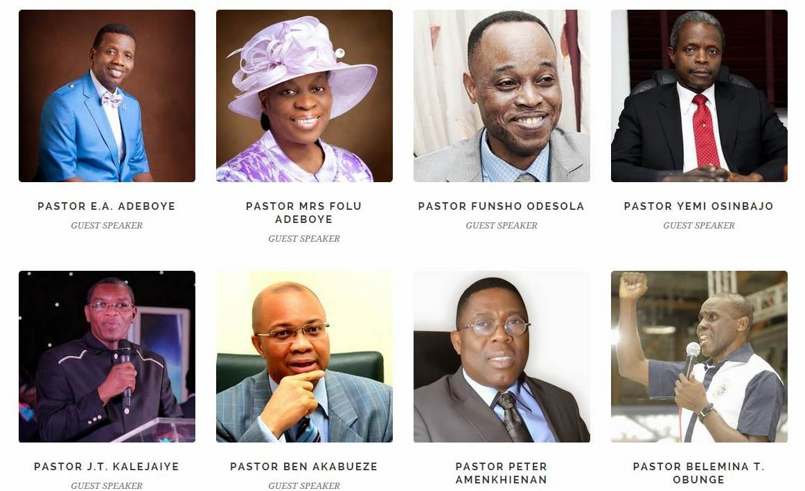2015 RCCG National Youth Convention speakers