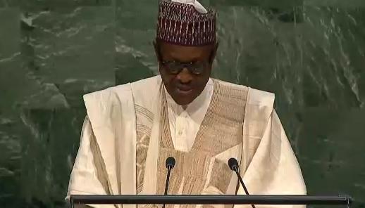 Buhari at UN general assembly 28 September 2015