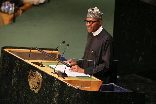 Pres Buhari at UN 25th September 2015