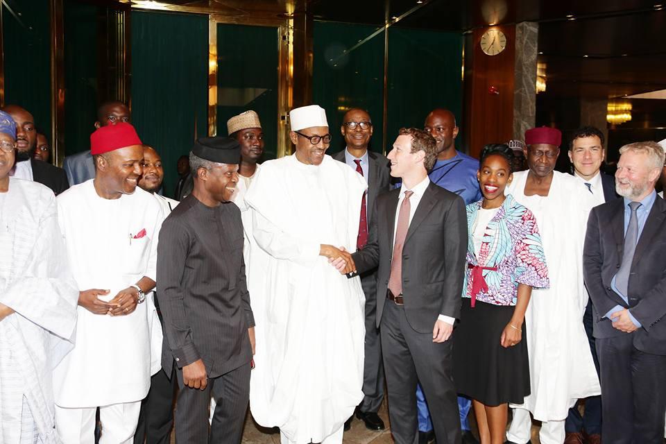 President Buhari receives Facebook founder Mark Zuckerberg 3