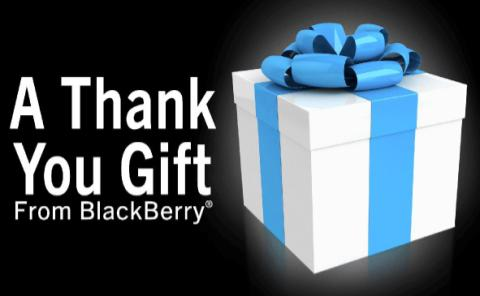 thank you gift from Blackberry