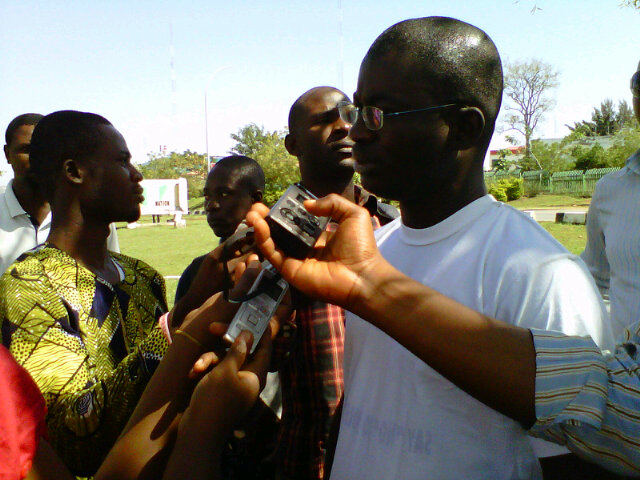 Wale Ajani Addressing the press