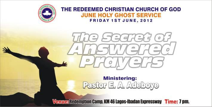 THE SECRET OF ANSWERED PRAYERS by Pastor E  A  Adeboye