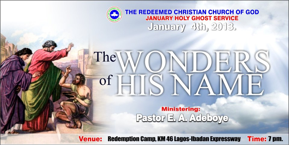 RCCG January 2013 Holy Ghost Service