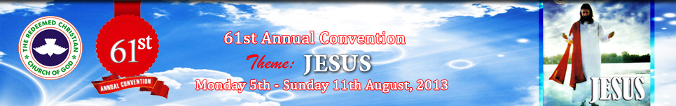 RCCG convention 2013 banner