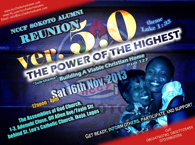 5th NCCF Sokoto Alumni Reunion » 16th November 2013
