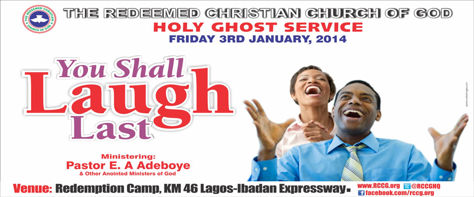 RCCG January 2014 Holy Ghost Service