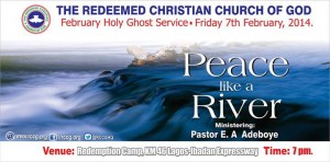 RCCG February 2014 Holy Ghost Service