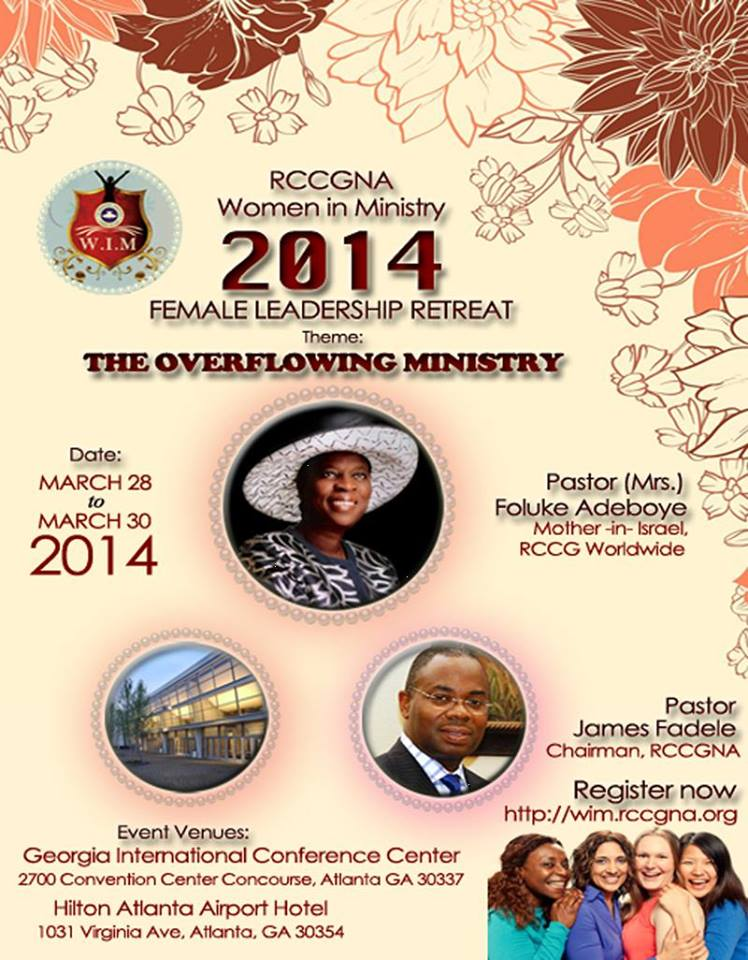 RCCGNA women in ministry 2014 retreat