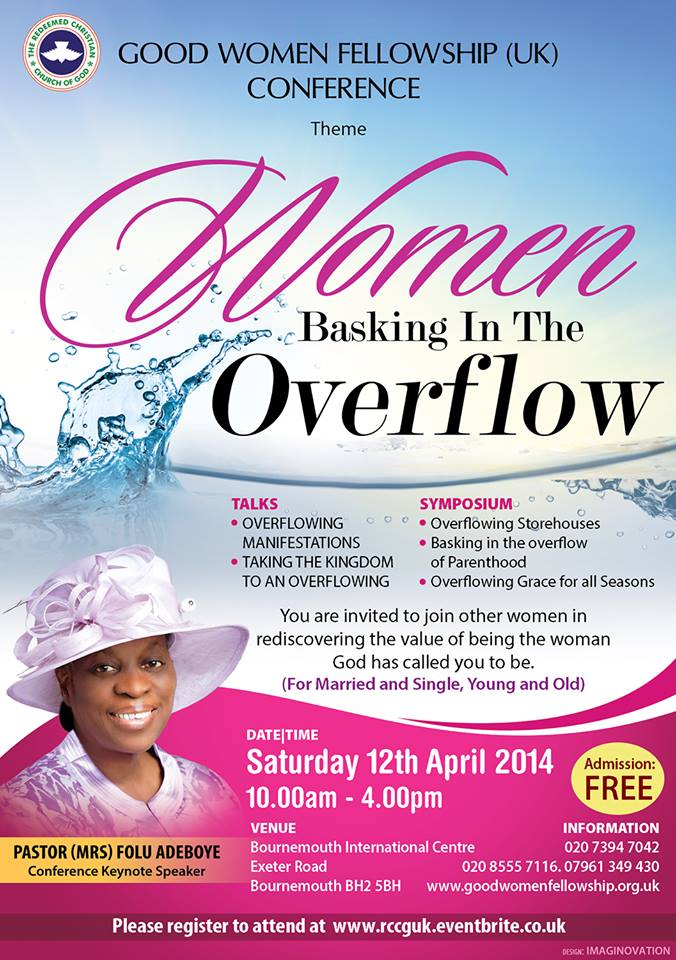 RCCG Good women Fellowship (UK) conference 2014