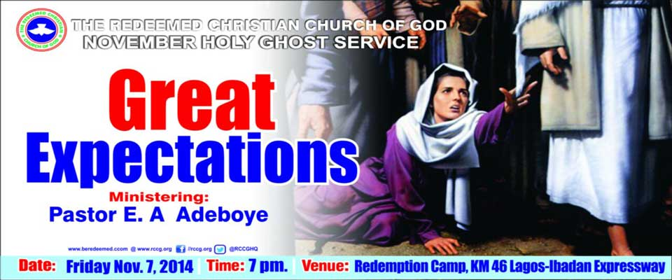 RCCG Holy Ghost Service November 2014