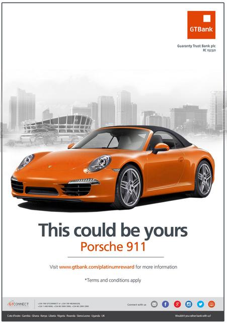 GTBank Porsche campaign