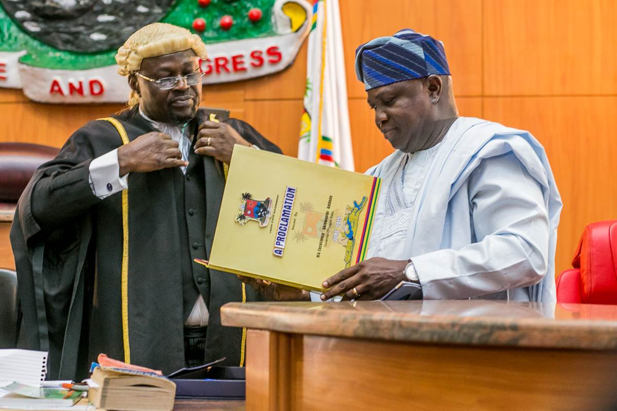 Governor Ambode Proclaims 8th Lagos State House of Assembly (1)
