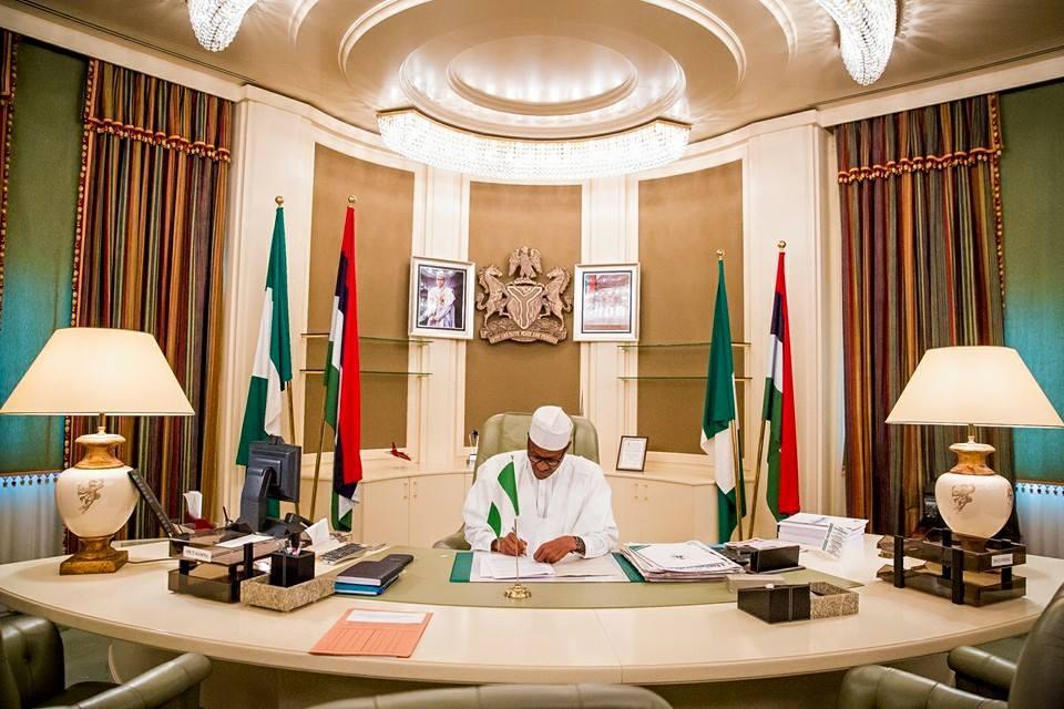 President Muhammadu Buhari's resumed duty at Aso Rock 22nd June 2015
