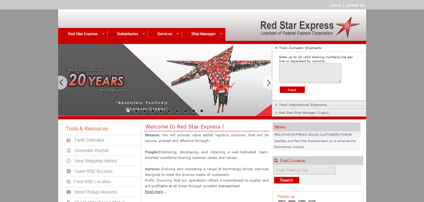 Red Star Express Plc 2