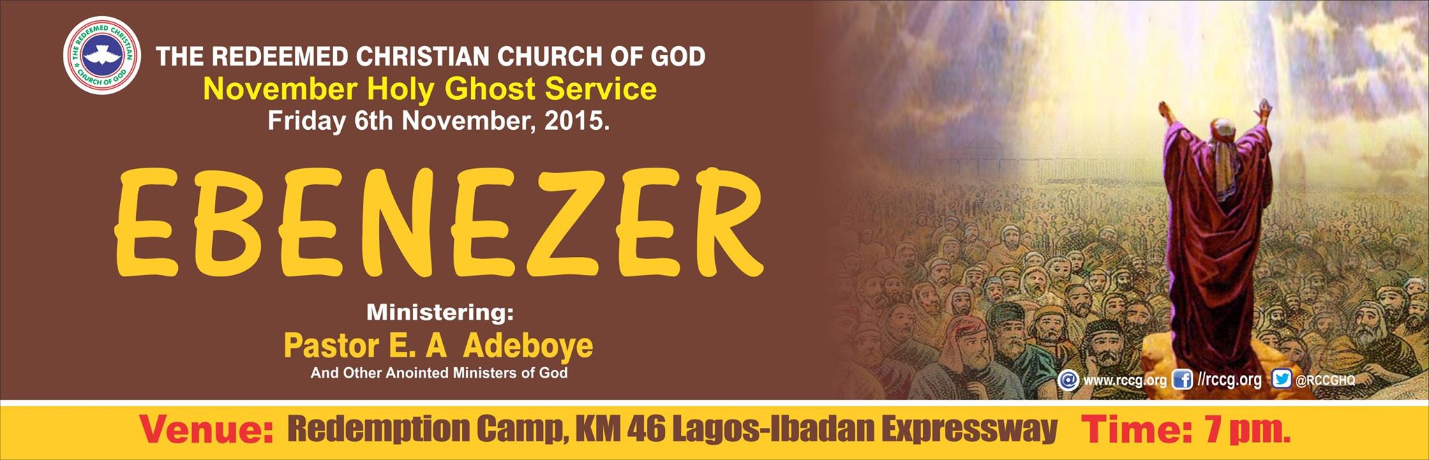 RCCG Nov 2015 Holy Ghost service