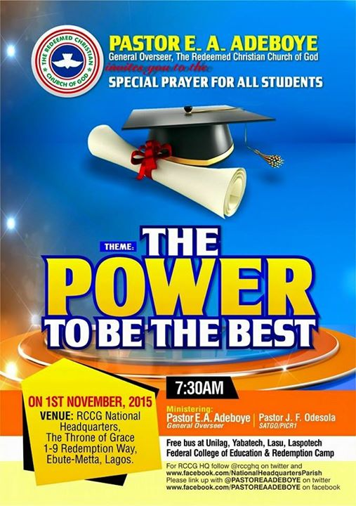 RCCG November 2015 Thanksgiving service