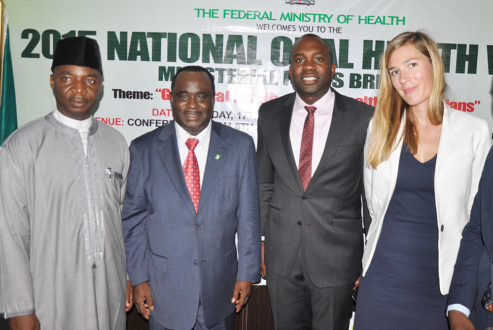 L-R: Dr. Ado Muhammed, CEO of National Primary Healthcare Development Agency; Dr. Paul Orhii, DG NAFDAC; Ekenem Isichei CEO of ACIOE Associates and Aliza Leferink, Brand Manager Oral B at the 2015 National Oral Health Week held recently in Abuja.