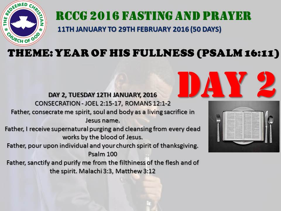 RCCG fasting 2016 DAY 2