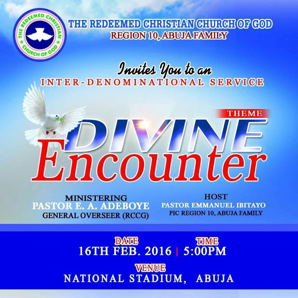 RCCG Abuja Divine Encounter February 2016'