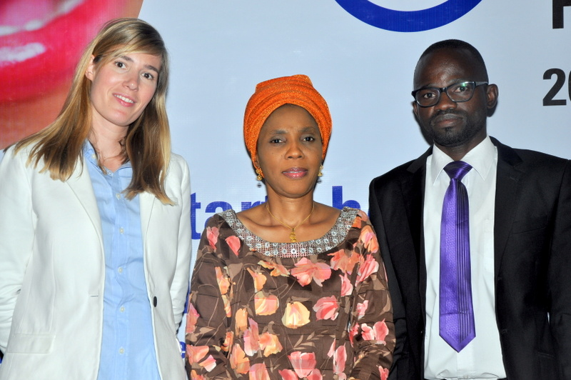 Brand Manager Oral B, Aliza Leferink; Representative of the Minister of Health, Dr Adebimpe Adebiyi and Consultant Orthodontist Abuja Teaching Hospital, Dr Abdulhakim Olatunji, during the Oral B World Oral Health Day celebration held in Abuja.