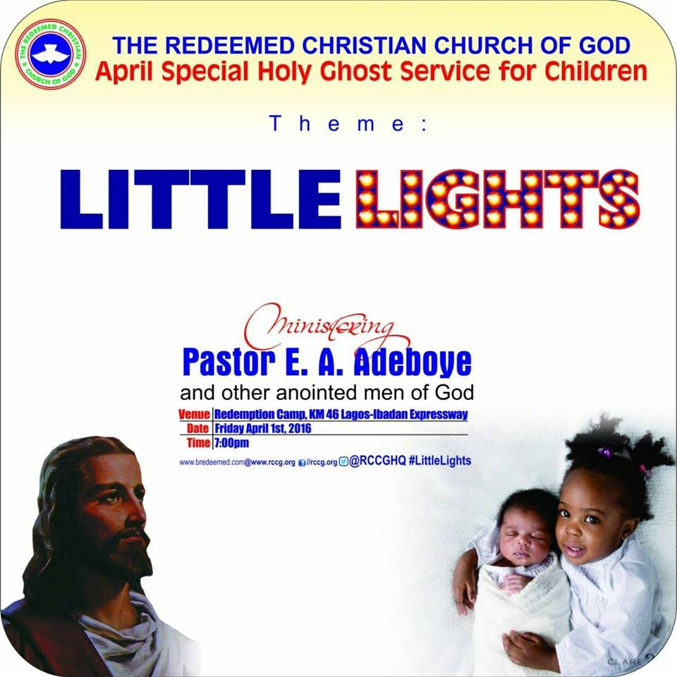 RCCG April 2016 Special Holy Ghost Service for children 2