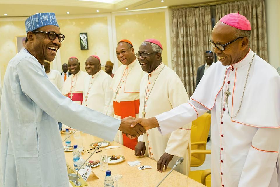 Catholic Bishops Conference of Nigeria visits Buhari 2nd May 2016 (2)