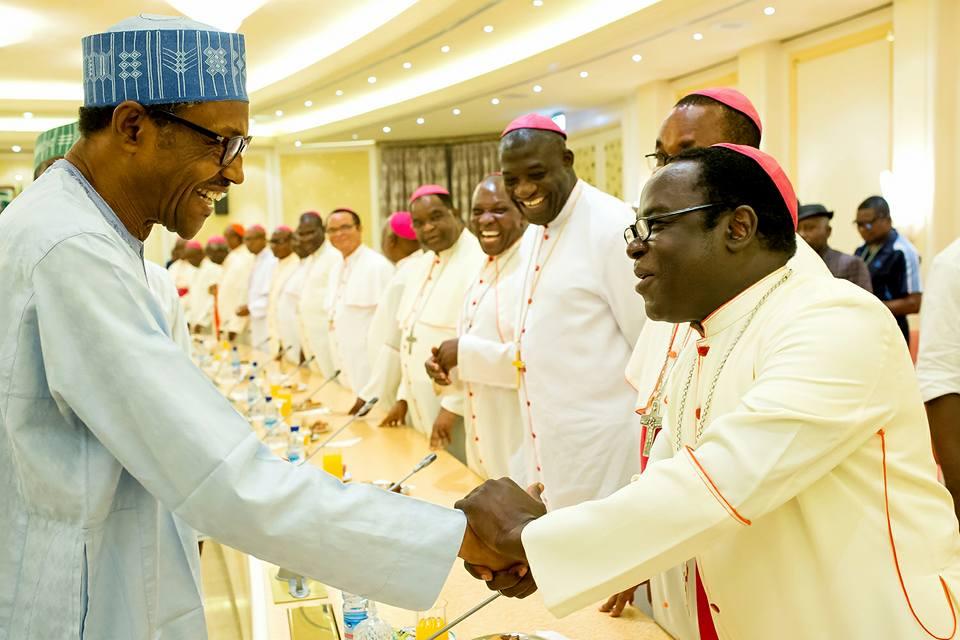 Catholic Bishops Conference of Nigeria visits Buhari 2nd May 2016 (3)