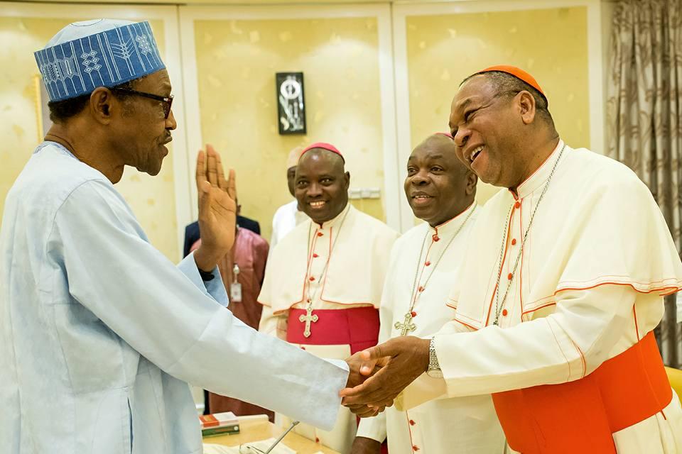 Catholic Bishops Conference of Nigeria visits Buhari 2nd May 2016 (4)