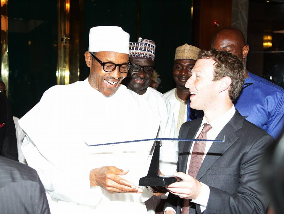 President Buhari receives Facebook founder Mark Zuckerberg 1