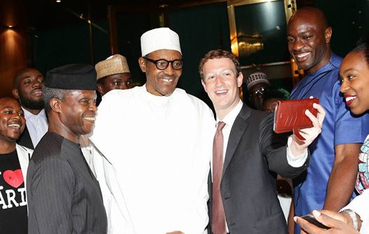 President Buhari receives Facebook founder Mark Zuckerberg