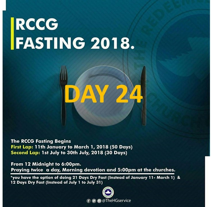 Day 24: RCCG 2018 fasting: (3rd February) Prayer Points » Perspective
