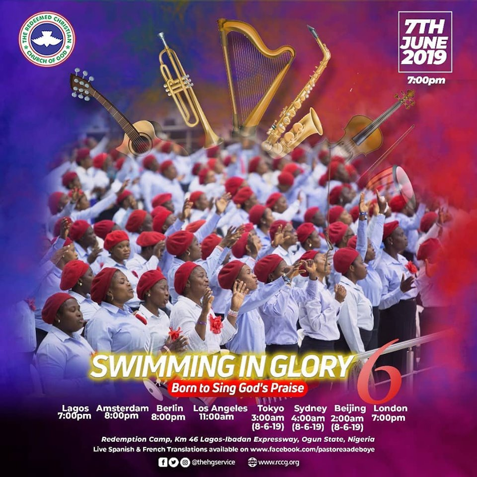 LIVE VIDEO: RCCG June 2019 Holy Ghost Service – Theme: Swimming in