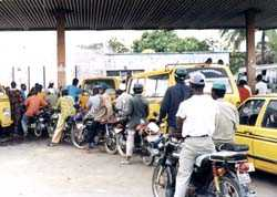 Nigerians waiting endlessly for fuel